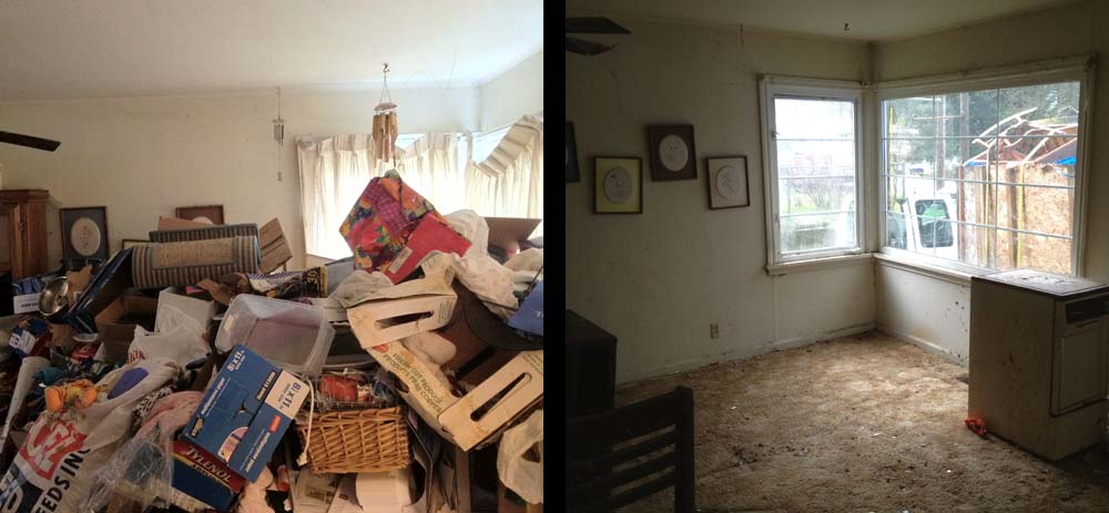 M&M Junk Removal Services before and after