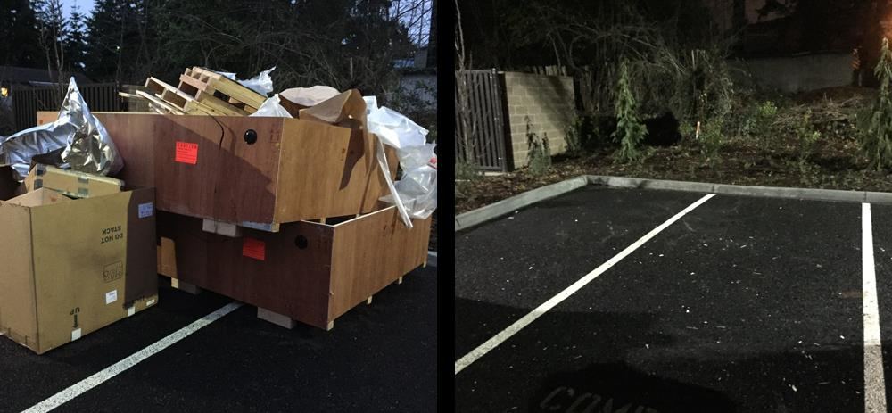 M&M Junk Removal Services before and after construction debris